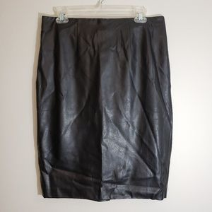 Ann Taylor Pencil Skirt NWT, Faux Leather, Size 10